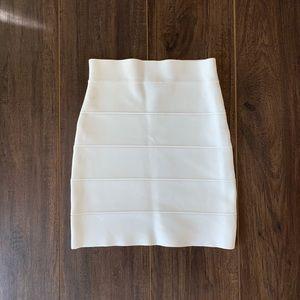 BCBGMaxAzria White Bandage Mini Skirt